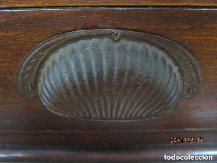 Antigüedades: Antiguo secreter buro con persiana - con secretos - tipo escritorio americano industrial - Foto 11 - 119231591