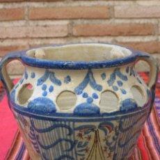 Antigüedades: ORZA ANTIGUA EN CERAMICA PINTADA Y VIDRIADA DE TALAVERA DE LA REINA ( TOLEDO ). Lote 119237375
