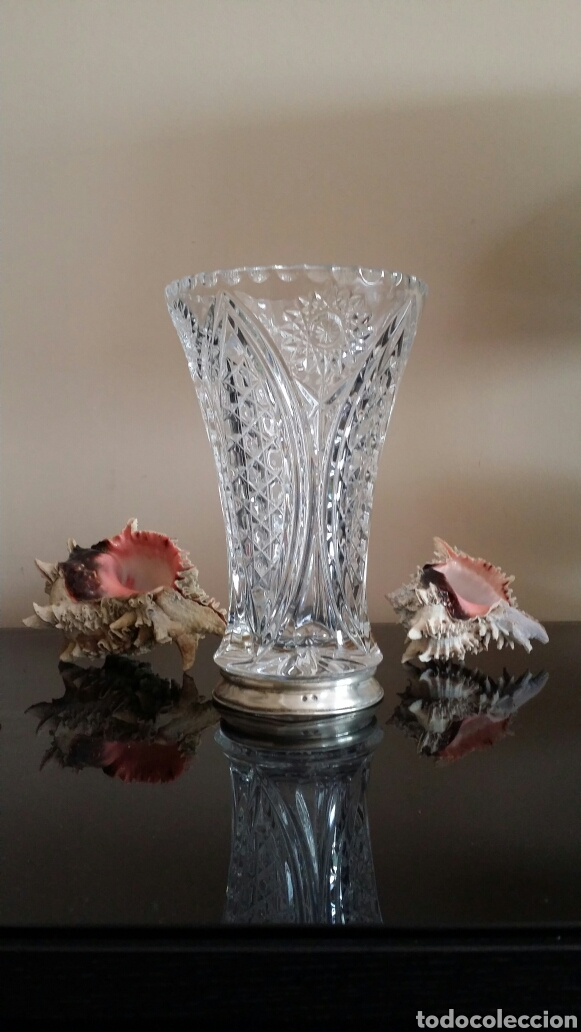 Antigüedades: Jarrón de cristal tallado - Foto 4 - 119241847