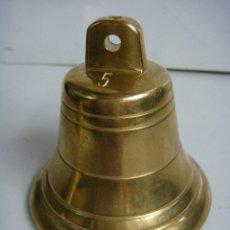 Antigüedades: CAMPANA EN BRONCE Nº-5 CON UN BONITO SONIDO (#). Lote 119282847