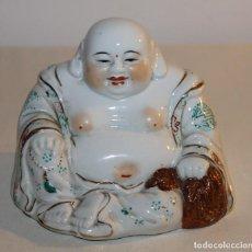 Antigüedades: FIGURA DE BUDA EN PORCELANA CHINA ESMALTADA - SEGUNDA MITAD SIGLO XX. Lote 119283495