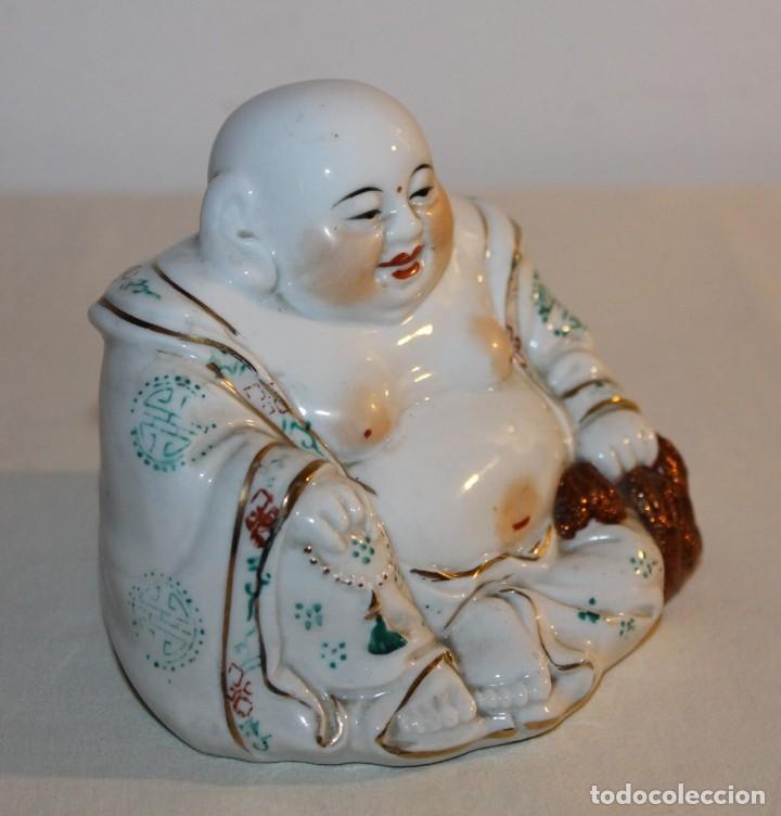 Antigüedades: FIGURA DE BUDA EN PORCELANA CHINA ESMALTADA - SEGUNDA MITAD SIGLO XX - Foto 2 - 119283495