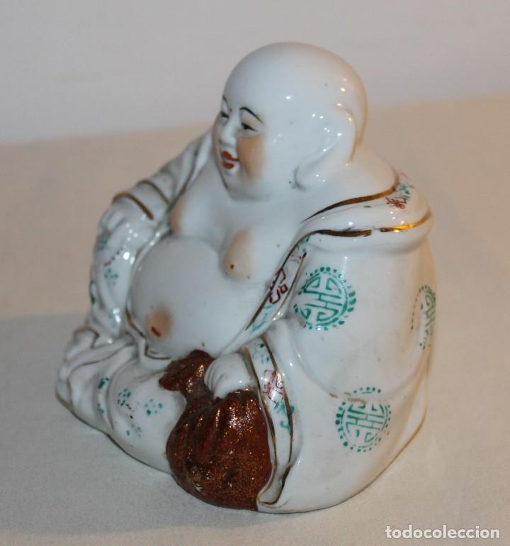 Antigüedades: FIGURA DE BUDA EN PORCELANA CHINA ESMALTADA - SEGUNDA MITAD SIGLO XX - Foto 4 - 119283495