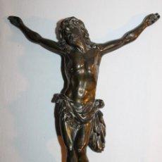 Antigüedades: CRISTO EN BRONCE PARA CRUCIFIJO DE PRINCIPIOS DEL SIGLO XX. Lote 119295175