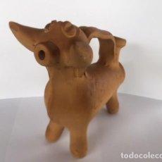 Antigüedades: ANTIGUO BOTIJO TORO IBERICO CERÁMICA TERRACOTA CUENCA ALFARERIA LOCAL CONQUENSE. Lote 119340751