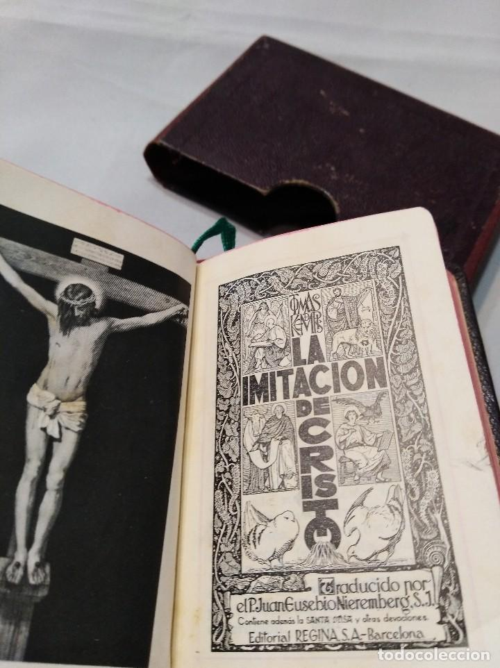 Antigüedades: Antiguo libro Imitación de Cristo. - Foto 2 - 119346327