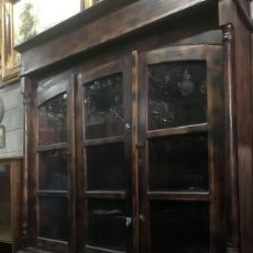 Antigüedades: MUEBLE CASTELLANO EXPOSITOR ESTILO ALACENA TIPO ALFONSINO. Lote 119351203