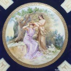 Antigüedades: GRAN PLATO VIENA SELLADO S.XIX FIRMADO AF. Lote 119366096
