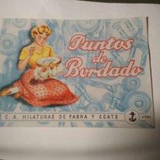 Antiguidades: PUNTOS DE BORDADO - HILATURAS DE FABRA Y COATS - CATALOGO ORIGINAL - NUEVO. Lote 206908887
