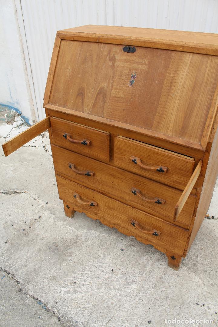 Antigüedades: mueble escritorio en madera de roble - Foto 3 - 119409303