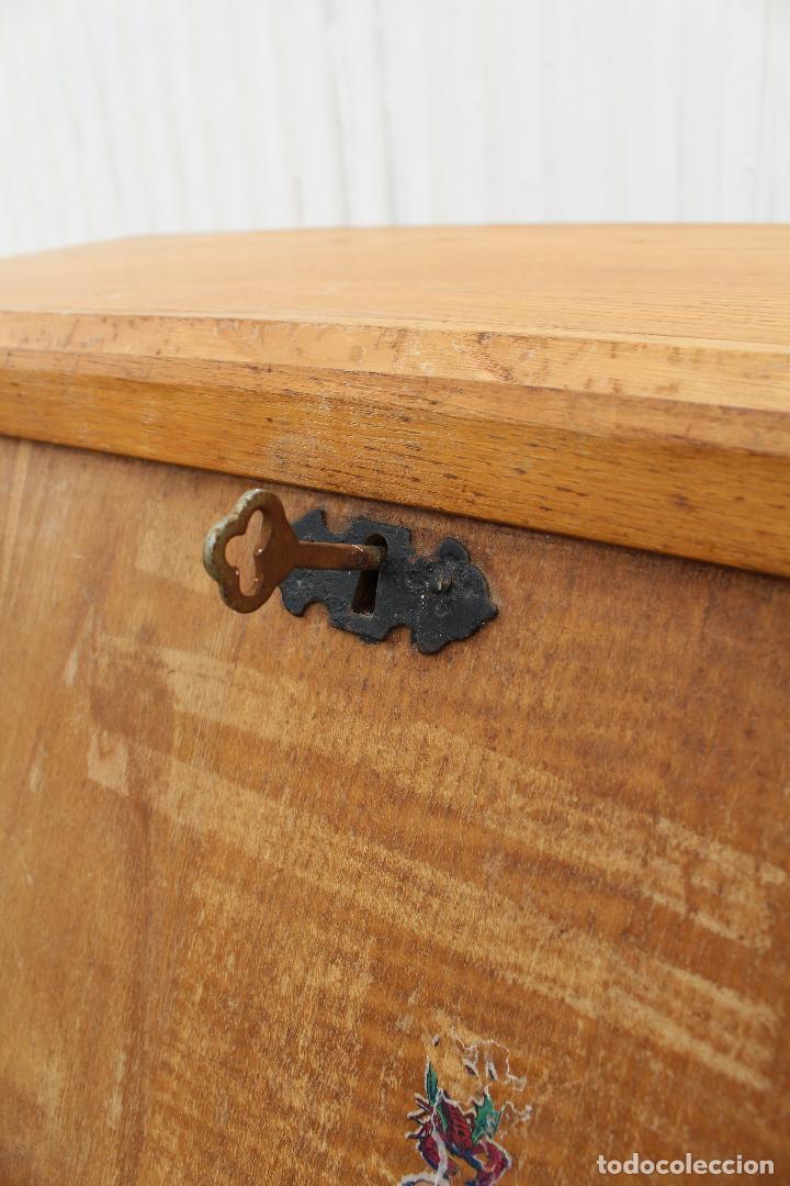 Antigüedades: mueble escritorio en madera de roble - Foto 4 - 119409303