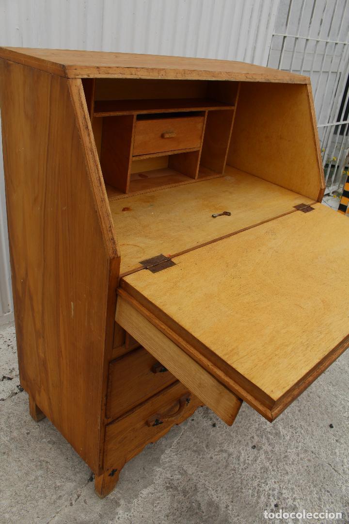 Antigüedades: mueble escritorio en madera de roble - Foto 6 - 119409303