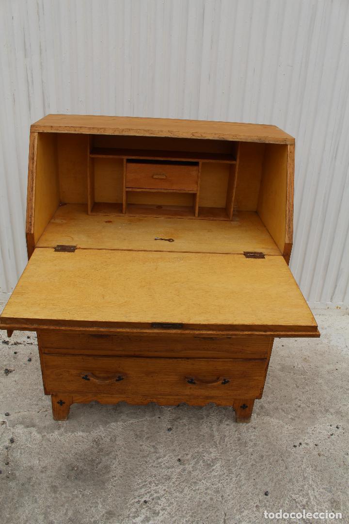 Antigüedades: mueble escritorio en madera de roble - Foto 7 - 119409303