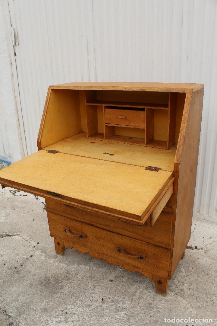 Antigüedades: mueble escritorio en madera de roble - Foto 8 - 119409303