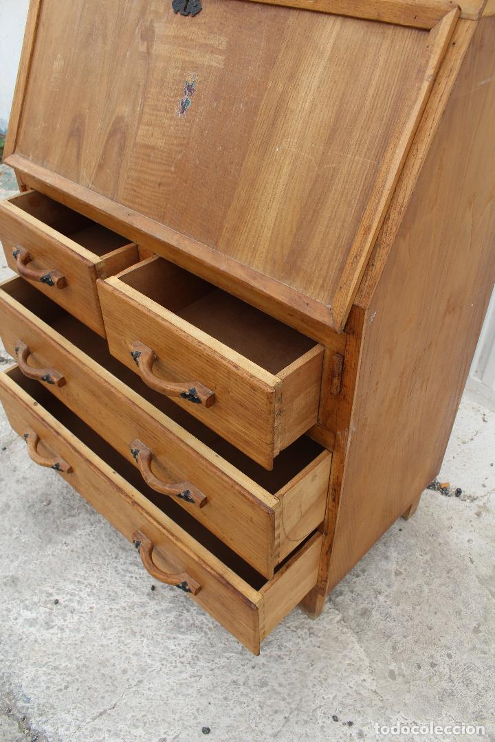 Antigüedades: mueble escritorio en madera de roble - Foto 9 - 119409303