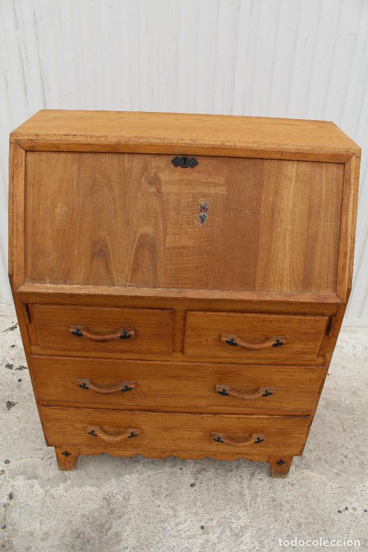 Antigüedades: mueble escritorio en madera de roble - Foto 10 - 119409303