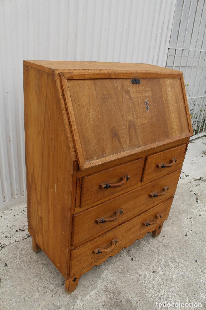 Antigüedades: mueble escritorio en madera de roble - Foto 11 - 119409303