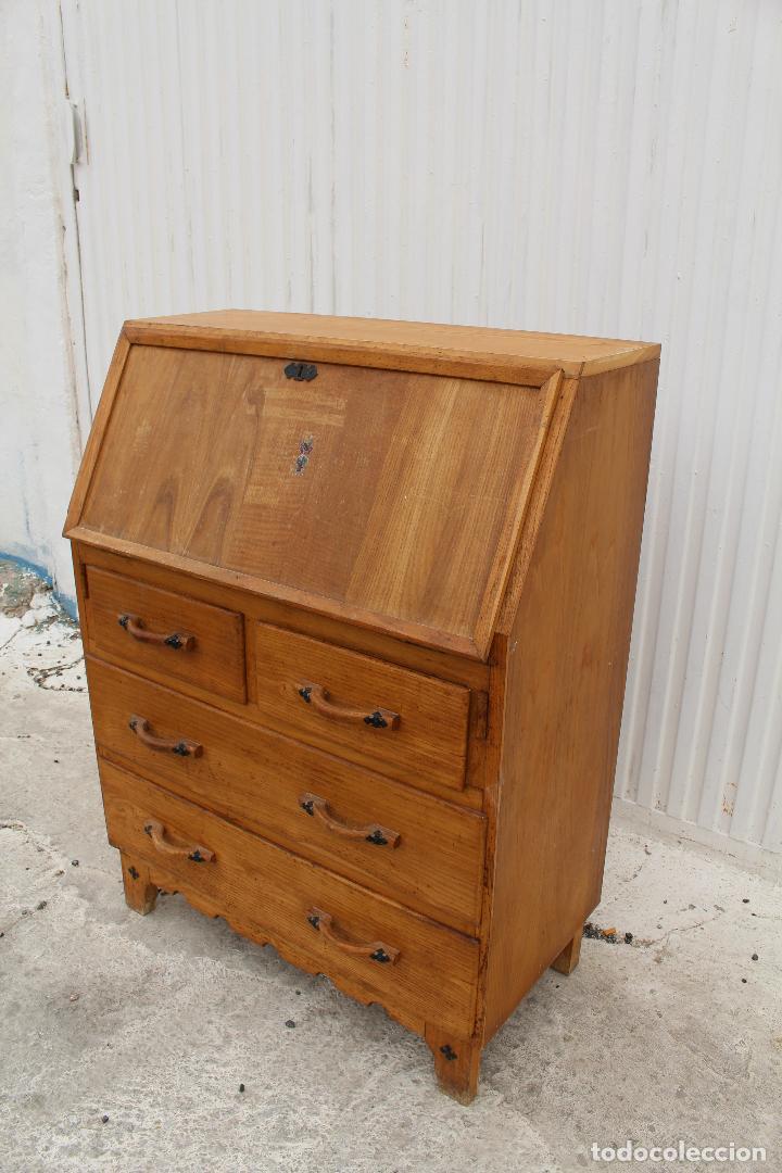 Antigüedades: mueble escritorio en madera de roble - Foto 12 - 119409303