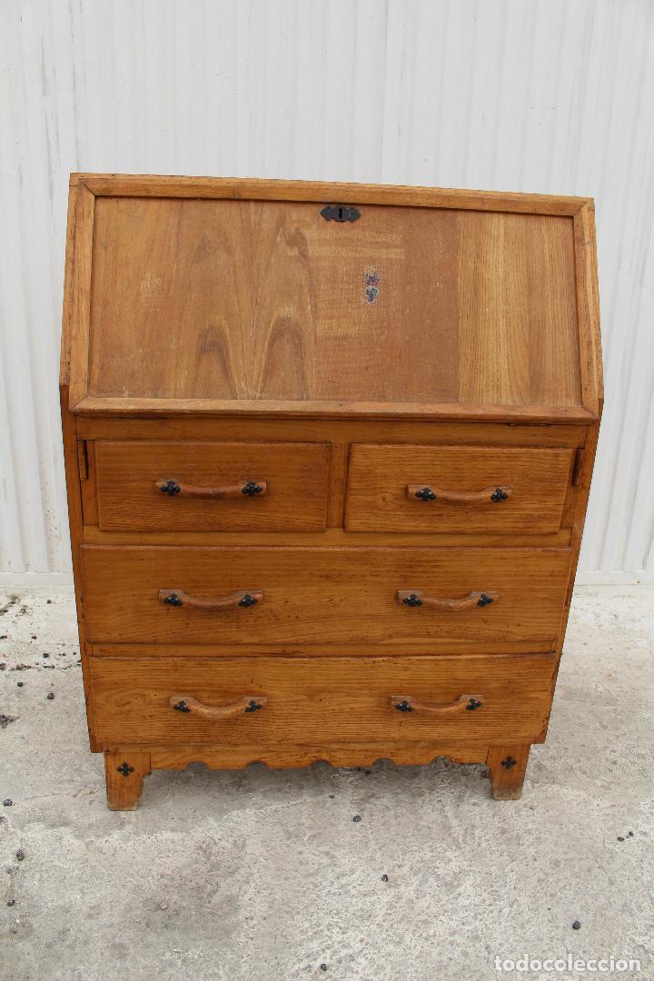 Antigüedades: mueble escritorio en madera de roble - Foto 13 - 119409303
