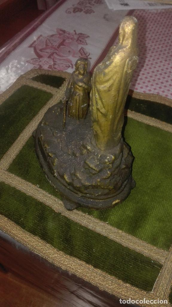 Antigüedades: escultura Virgen de Lourdes.siglo XIX - Foto 4 - 119424031