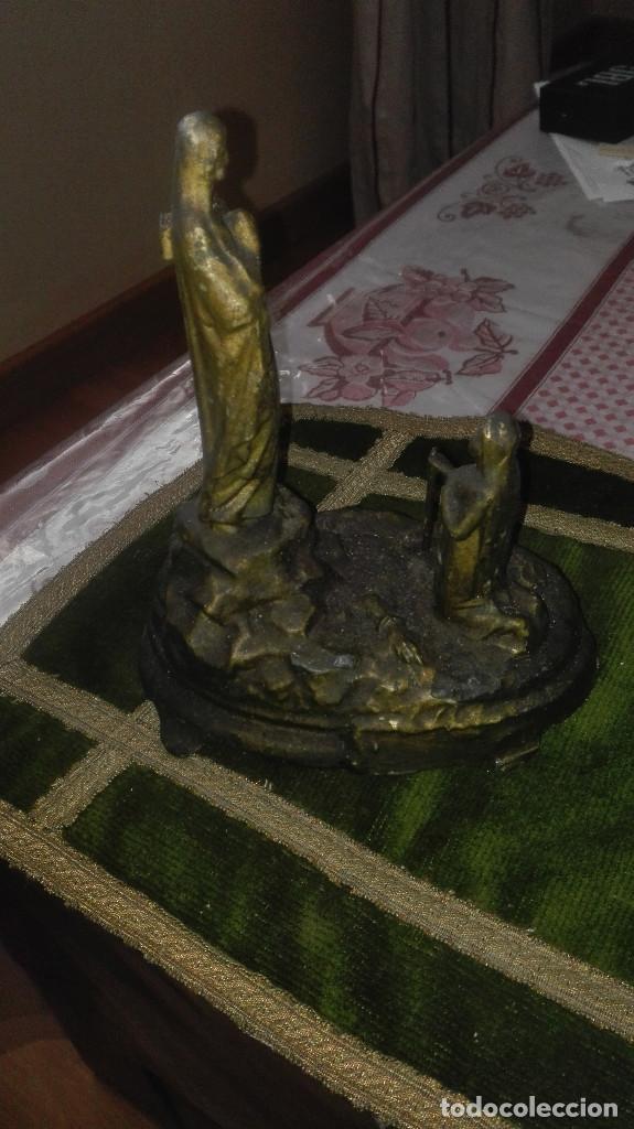 Antigüedades: escultura Virgen de Lourdes.siglo XIX - Foto 6 - 119424031