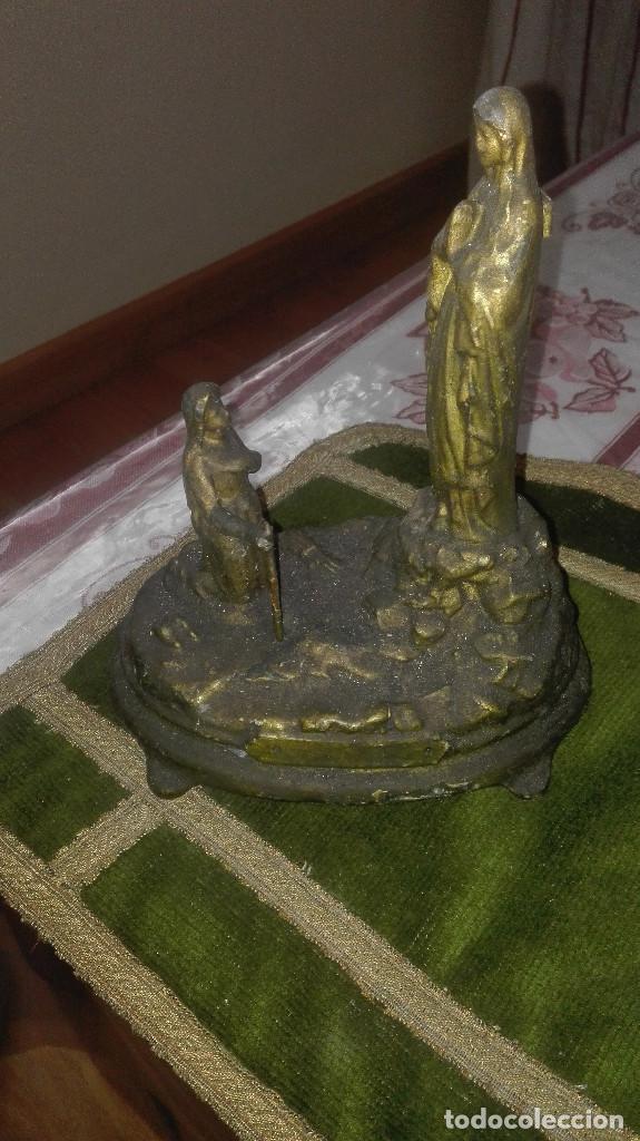 Antigüedades: escultura Virgen de Lourdes.siglo XIX - Foto 7 - 119424031