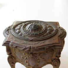 Antigüedades: JOYERO ART NOVEAU PERFECTO 600 GRS 10 X 8 CMS Y 9 CMS DE ALTURA. Lote 119434283