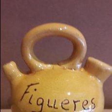 Antigüedades - PEQUEÑO BOTIJO DE CERÁMICA - FIGUERES / 12 CM ALTO X 10 ANCHO / PERFECTO. - 119467999