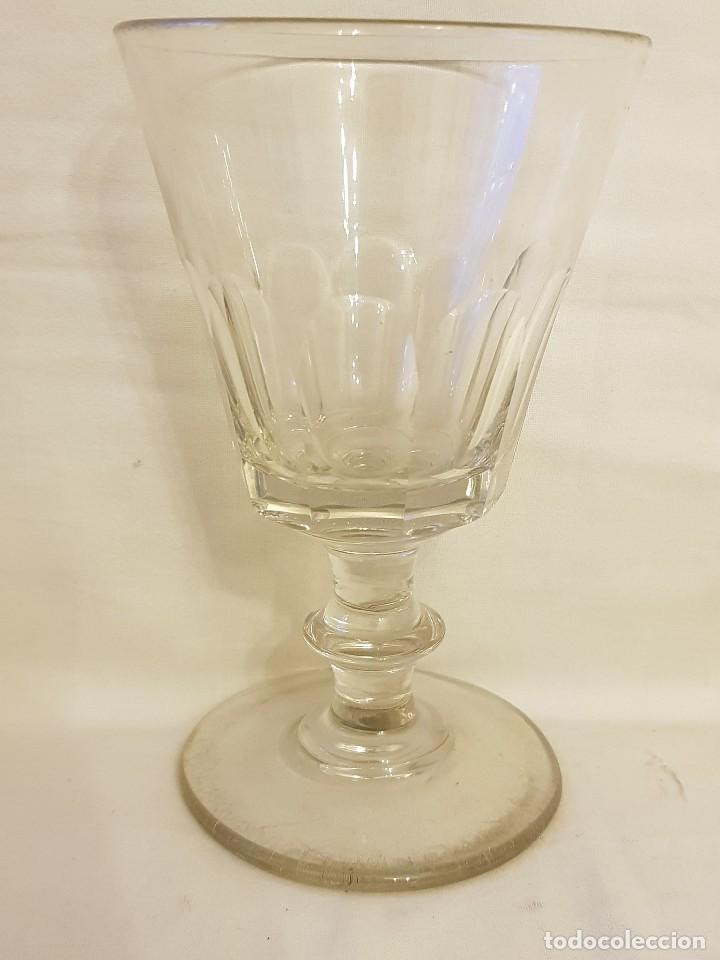 COPA DE CRISTAL ESPAÑOLA. SIGLO XIX. (Antigüedades - Cristal y Vidrio - Santa Lucía de Cartagena)