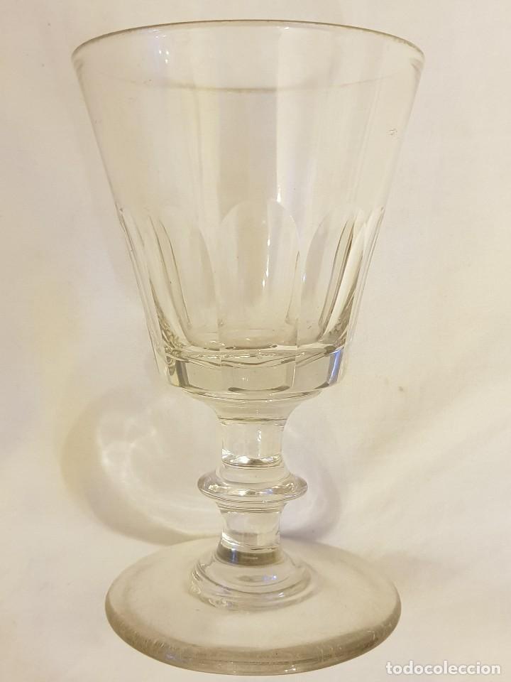 Antigüedades: Copa de cristal española. Siglo XIX. - Foto 2 - 119486911