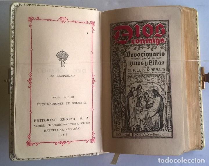 Antigüedades: ANTIGUO MISAL DEVOCIONARIO PARA NIÑOS DE PRIMERA COMUNIÓN - Foto 10 - 119489179