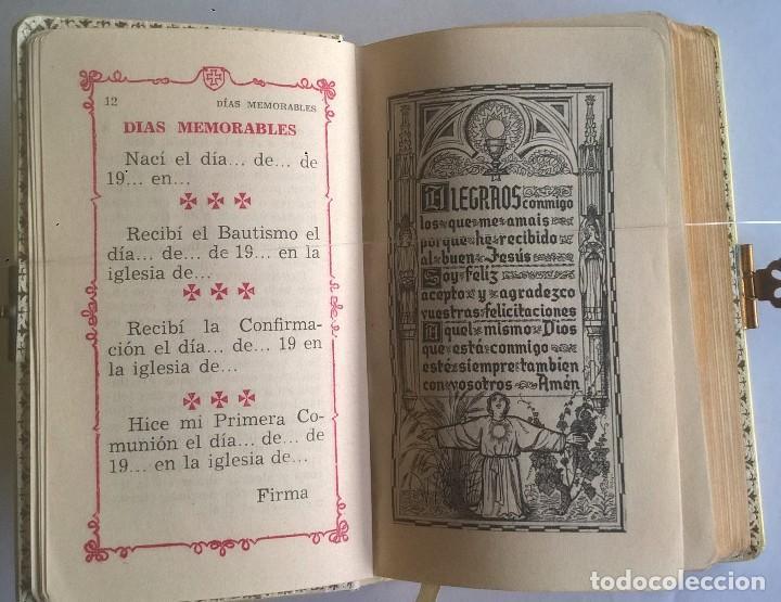 Antigüedades: ANTIGUO MISAL DEVOCIONARIO PARA NIÑOS DE PRIMERA COMUNIÓN - Foto 13 - 119489179