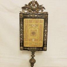Antigüedades: GRAN RELICARIO DE BRONCE PLATEADO. SIGLO XVIII-XIX. Lote 119490479