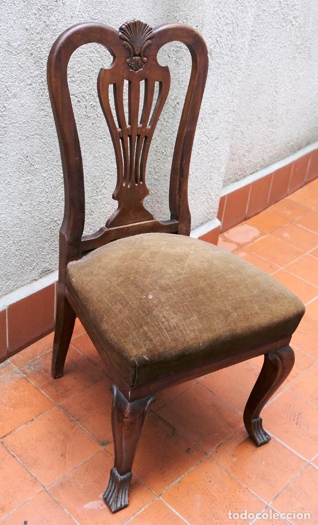 SILLA. CIRCA AÑOS `50 (Antigüedades - Muebles Antiguos - Sillas Antiguas)