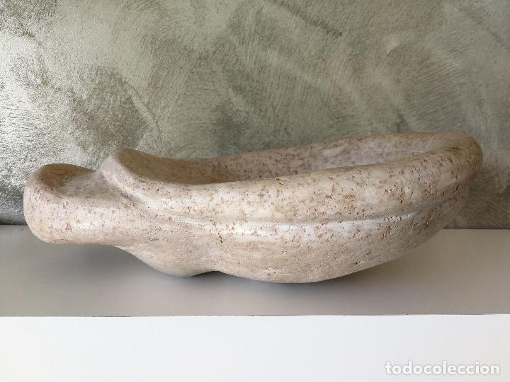Antigüedades: ANTIGUA PILA DE AGUA BENDITA O BENDITERA EN PIEDRA O MARMOL - Foto 4 - 119522087