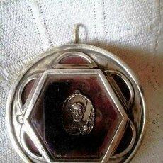 Antigüedades: RELICARIO DE SANTIAGO EN PLATA ACRISTALADO. Lote 119522531