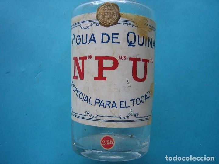 Antigüedades: VALADOLID - ANTIGUA BOTELLA DE AGUA DE QUINA NON PLUS ULTRA - 22 CM - VER FOTOS - Foto 3 - 119538403