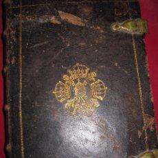 Antigüedades: MARTYROLOGIUM ROMANUM. IMPRENTA PLANTINIANA 1746. BELLA ENCUADERNACIÓN CON BROCHES Y RARO. Lote 133374607