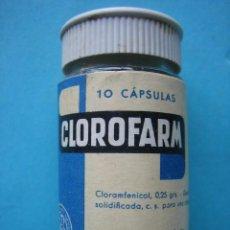 Antigüedades: FARMACIA - ANTIGUO FRASCO CLOROFARM - 6 CM - VER FOTOS. Lote 119555115