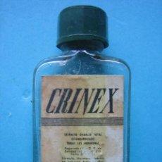 Antigüedades: FARMACIA - ANTIGUO FRASCO CRINEX - 6 CM - VER FOTOS. Lote 119555295