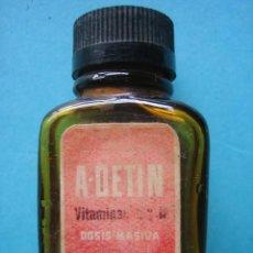 Antigüedades: FARMACIA - ANTIGUO FRASCO A. DETIN - VITAMINAS - 5,5 CM - VER FOTOS. Lote 119555487