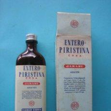 Antigüedades: FARMACIA - ANTIGUO FRASCO ENTERO PIRISTINA ERBA JARABE + ENVASE CAJA DE CARTON - 17 CM - VER FOTOS. Lote 119559259