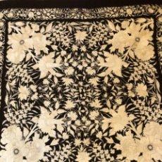 Antigüedades: ANTIGUO MANTON DE MANILA DE TULIPANES. Lote 119576155