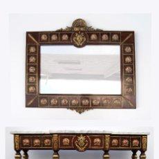 Antigüedades: CONSOLA Y ESPEJO IMPERIO. Lote 119579415
