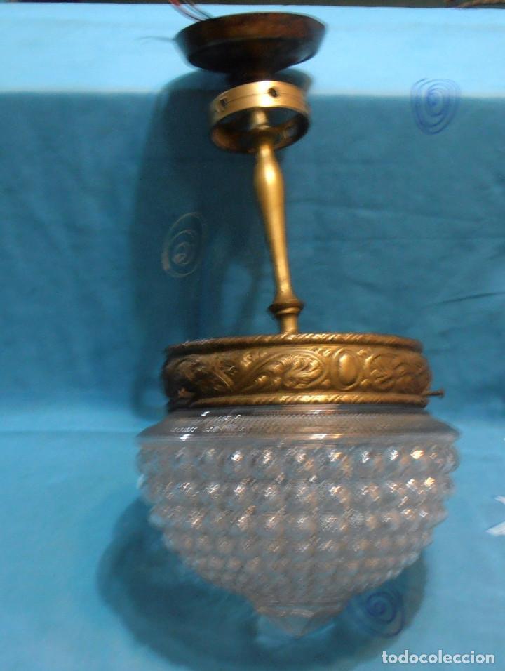 LAMPARA DE TECHO DE UNASOLA LUZ, ANTIGUA (Antigüedades - Iluminación - Lámparas Antiguas)
