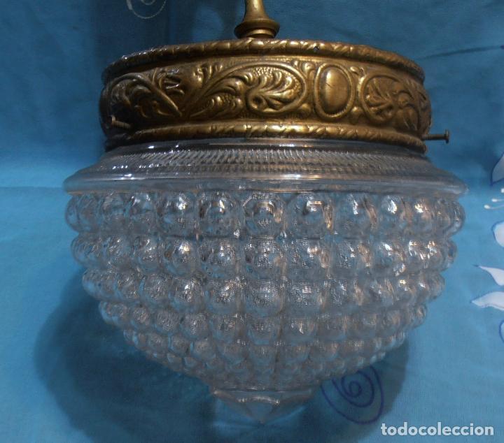 Antigüedades: LAMPARA DE TECHO DE UNASOLA LUZ, ANTIGUA - Foto 2 - 119581287
