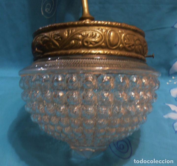 Antigüedades: LAMPARA DE TECHO DE UNASOLA LUZ, ANTIGUA - Foto 4 - 119581287