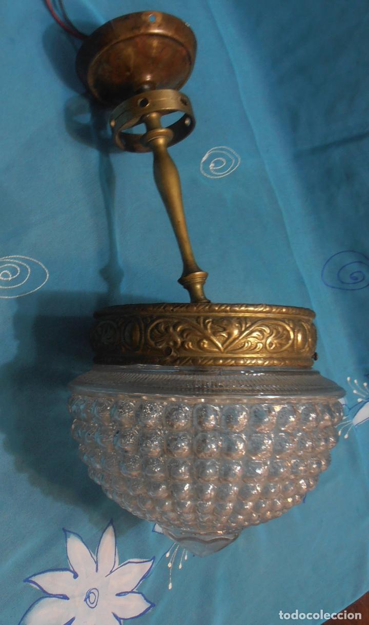 Antigüedades: LAMPARA DE TECHO DE UNASOLA LUZ, ANTIGUA - Foto 6 - 119581287