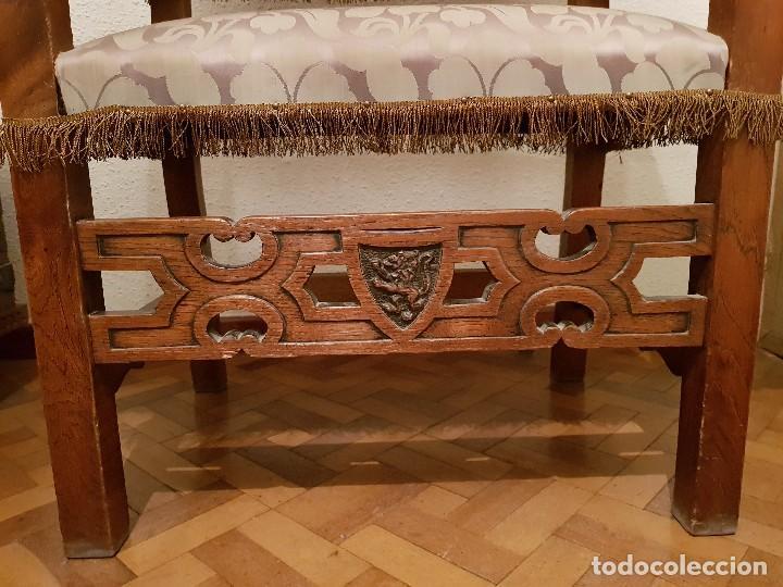 Antigüedades: Sillón frailero de roble. - Foto 2 - 119584643