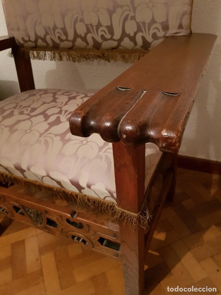 Antigüedades: Sillón frailero de roble. - Foto 3 - 119584643